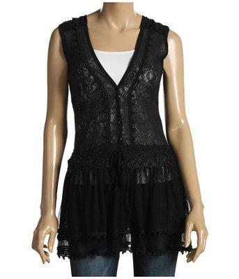 Frilly Black Shirt