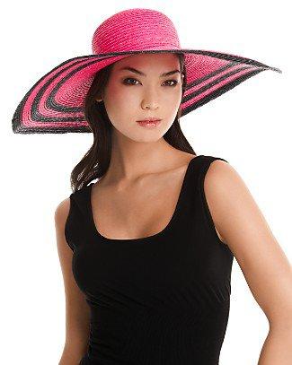Helene Berman Striped Straw Hat