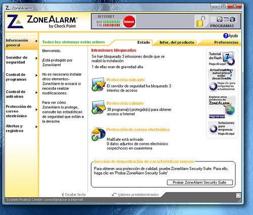 Zone Alarm Suit