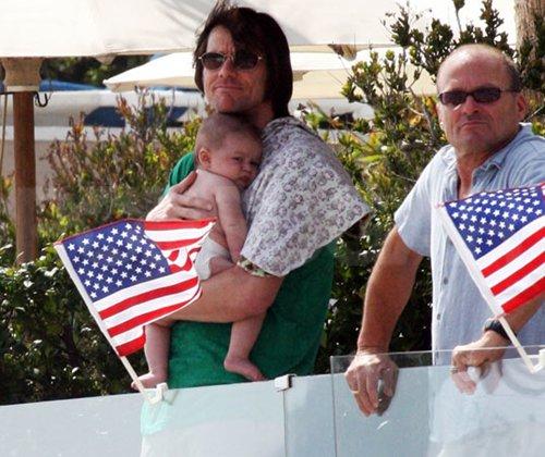 Jim Carrey and Grandson