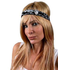 Lauren Moshi Rock 'n' Roll Headband with Crystal in Black