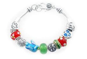 Pandora Style Peace Bead Bracelet