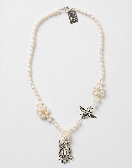 "Mariana Lopez Osornio ""Bird and Bee"" Necklace"