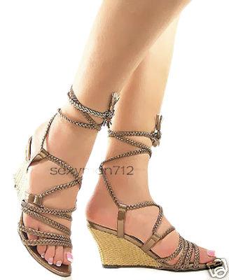 Bronze Wedge Heel