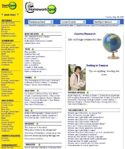 Best websites for homework help