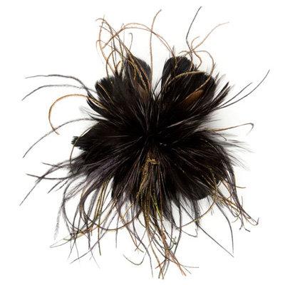 Black Feather Alligator Hair Clip