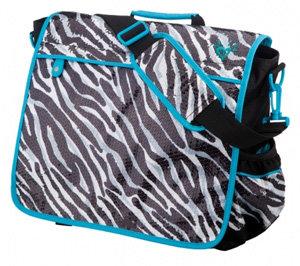 Justice for Girls Sequin Zebra Convertible Messenger Bag