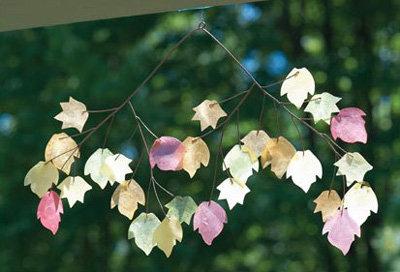 Autumn Leaves Capiz Chime
