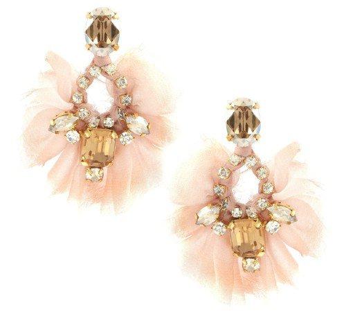 Paula Bianco 'Romantic Embellishment' Blush Earrings