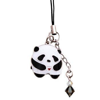 Panda Love Cell Phone Charm