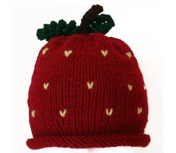 Knit Strawberry Hat