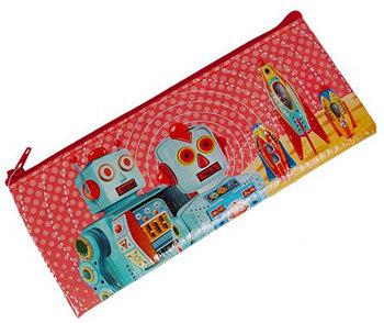 Rocket Ships and Robots Space Age Pencil Bag