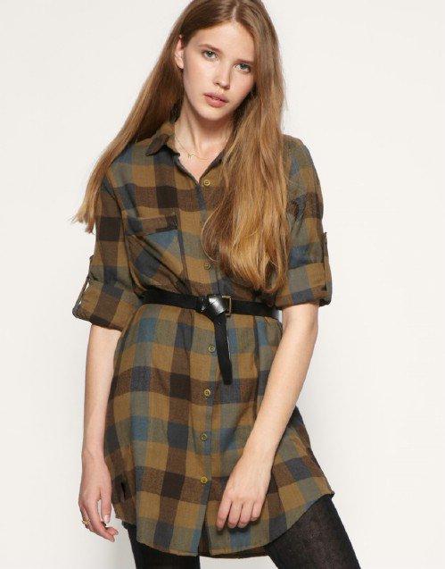 ASOS Oversized Check Shirt Dress
