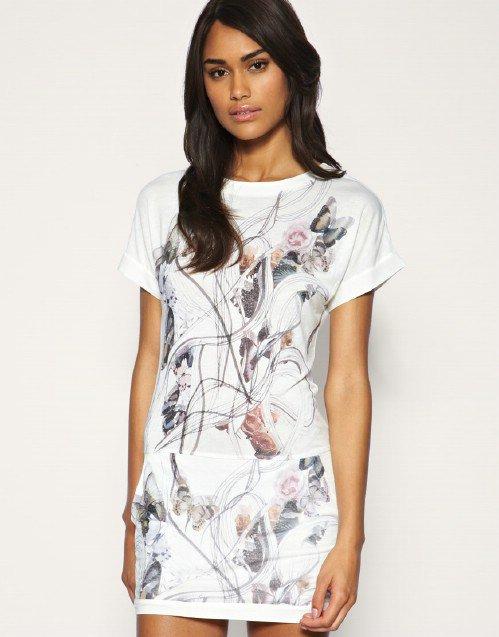 Mango Butterfly T-Shirt Dress