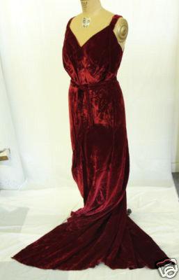 1930s Red Wine Velvet