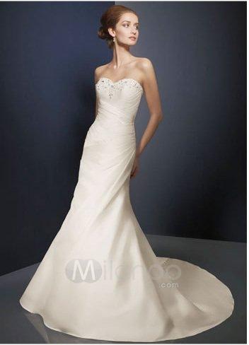 Ivory Strapless Wedding Dress