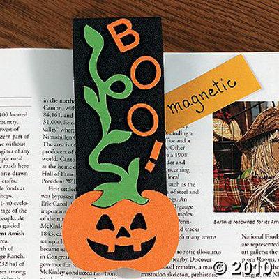 Foam Halloween Bookmark Magnet Craft Kit