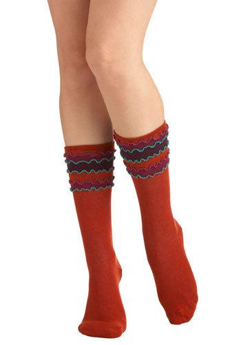 Doodle Top Socks