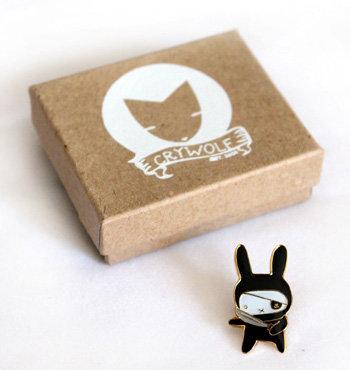 Ninja Bunny Pin