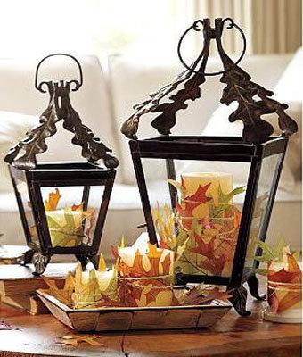 Pottery Barn Leaf Lanterns
