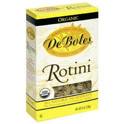 De Boles Pasta Organic Rotini