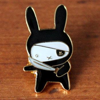 Ninja Pirate Bunny Pin