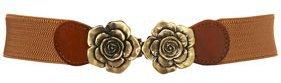 Double Floral Elastic Belt