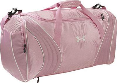purple under armour duffle bag