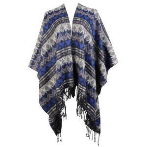 Aztec Print Poncho