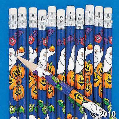 Halloween Ghost Pencils