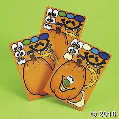 Make-a-Jack-O'-Lantern Stickers