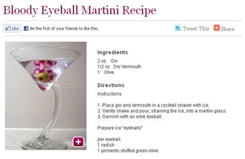 Bloody Eyeball Martini