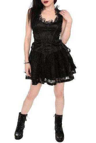 Lip Service Black Lace-up Floral Dress