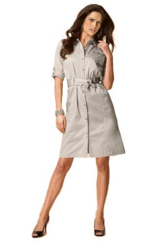 Metrostyle Tab-Sleeve Shirtdress