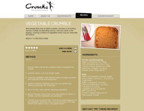 Vegetable Crumble