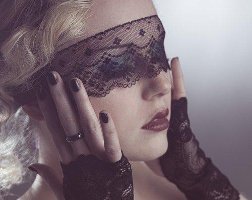 Sheer Black Lace