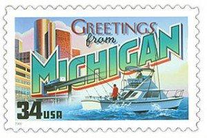 Postcard, Quarter and Stamp