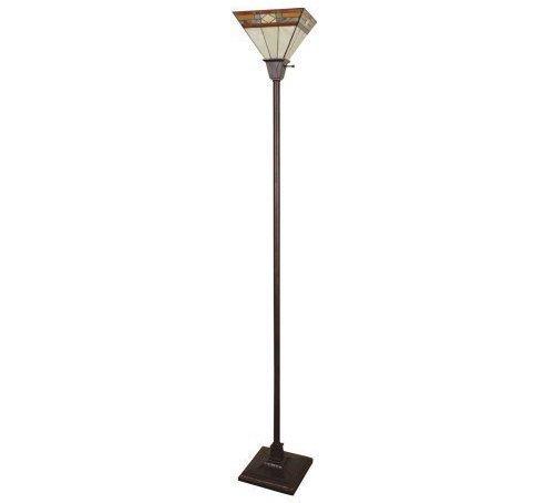 Glass Shaded Floor Lamp