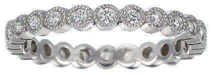 Brilliant Earth Platinum Solstice Eternity Diamond Ring