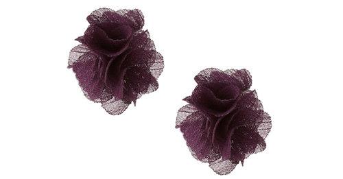 Chiffon Flower Studs
