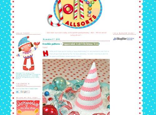 Peppermint Swirl Christmas Tree