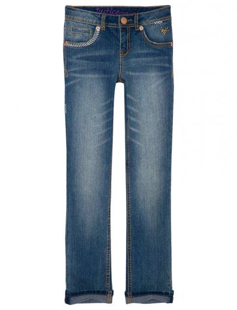 Justice for Girls Decorative Stitch Roll Cuff Skinny Jean