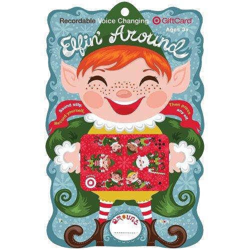 Target Elfin around Voice Changer Gift Card