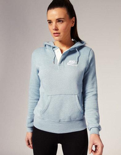 Nike Brushed Fleece Gym Buttoned Hoodie