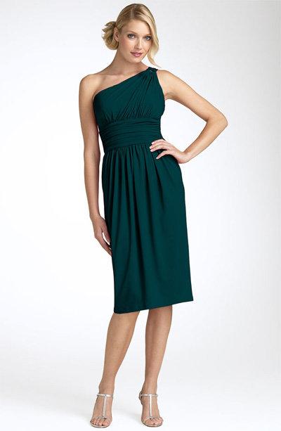 Maggy London One Shoulder Dress