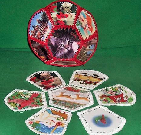 Christmas Card Bowl