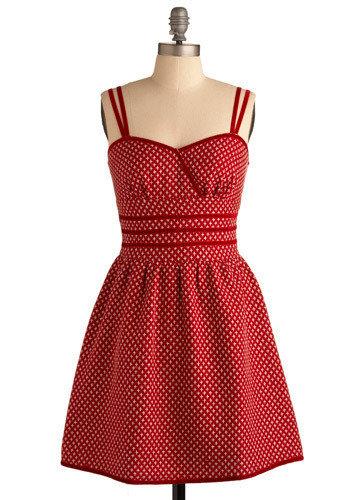 Red Garnet Glamor Dress