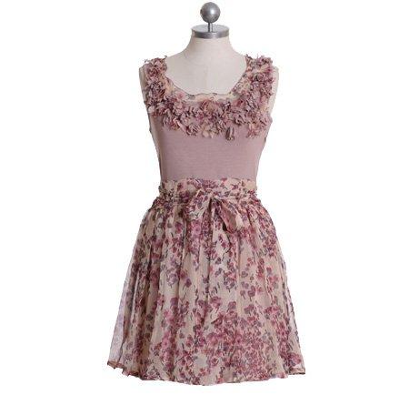 Petal Bloom Dusty Pink Dress