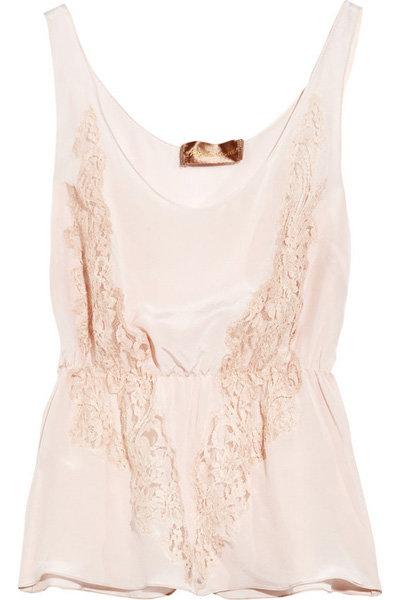 Rosamosario Piccolo Silk-crepe and Lace Vest