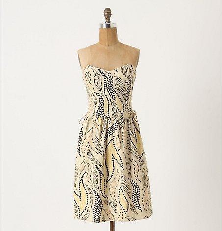 Stippled Deciduous Corset Dress